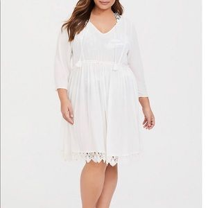 Torrid Ivory Gauze Swim Cover-Up Size 1 (14-16)